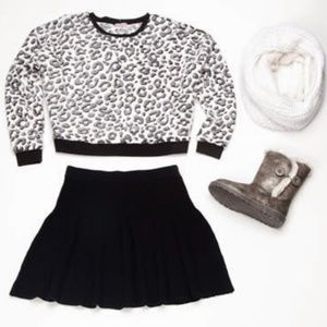 Juicy Couture fuzzy leopard crop top
